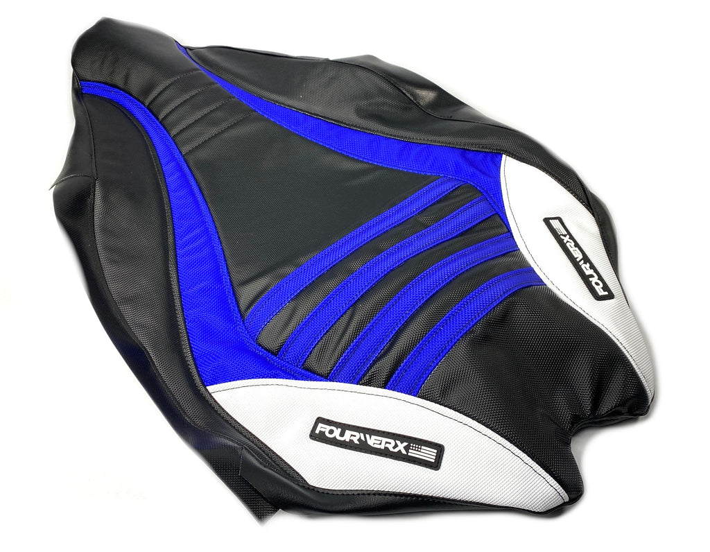 YAMAHA 09+ YFZ450R SEAT COVER - BLACK / BLUE / WHITE