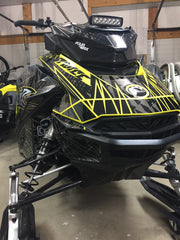 SKI DOO 'GEN 4' CARBON FIBER HEAD LIGHT DELETE KIT