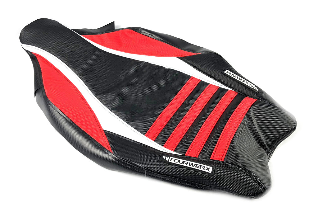 HONDA TRX450R v2 SEAT COVER - BLACK / RED / WHITE