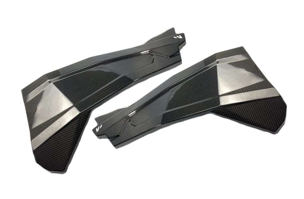 14+ POLARIS RZR 1000 CARBON FIBER UPPER DOOR SKINS / FRONT
