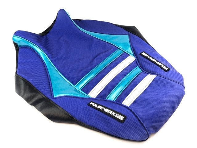 HONDA TRX90 ('99-'05) SEAT COVER - BLUE / TEAL / WHITE