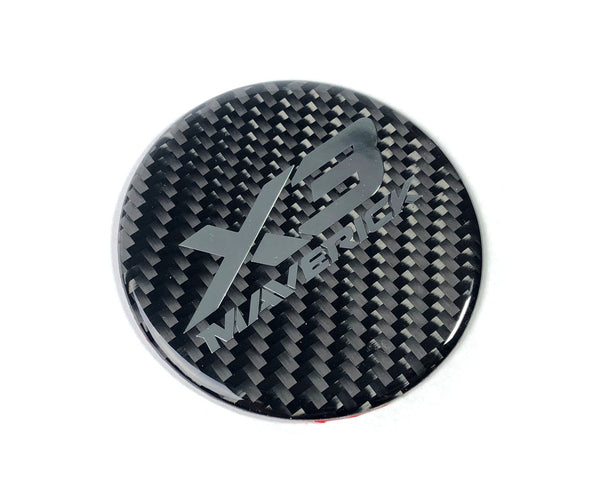 CAN AM MAVERICK X3 CARBON FIBER HOOD BADGE