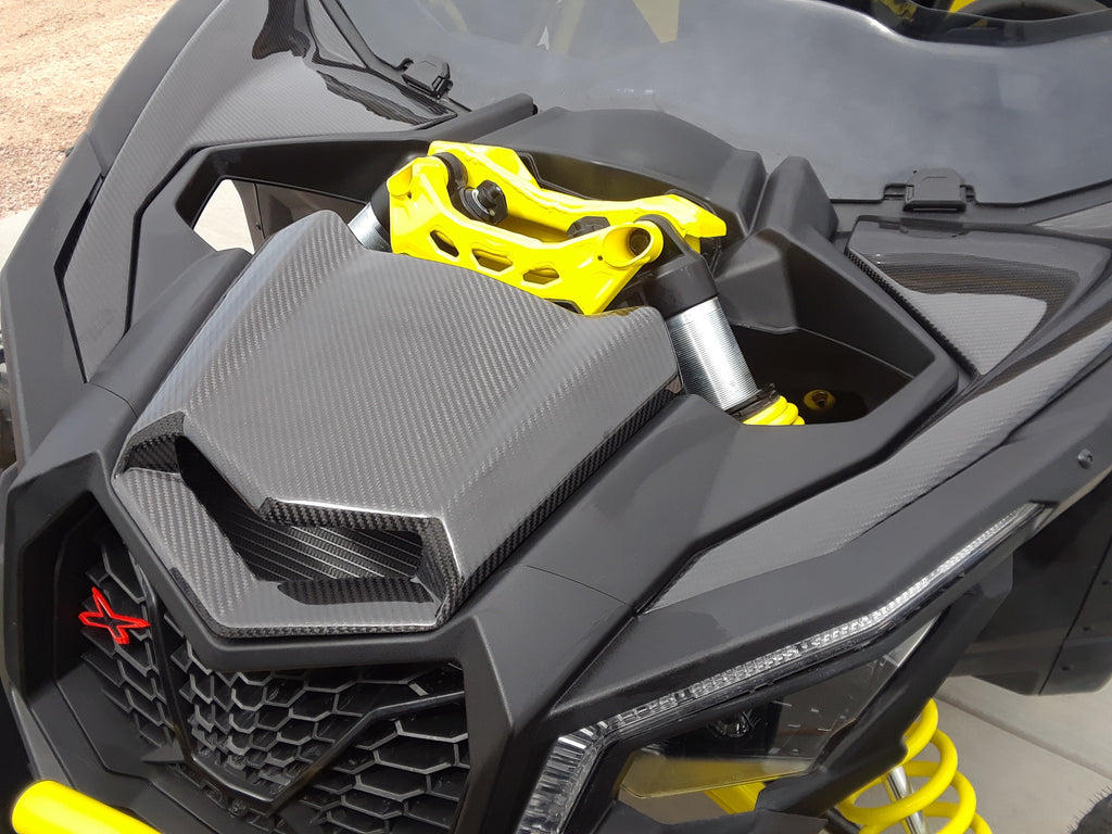 CAN AM MAVERICK X3 CARBON FIBER INNER HOOD PANEL SET