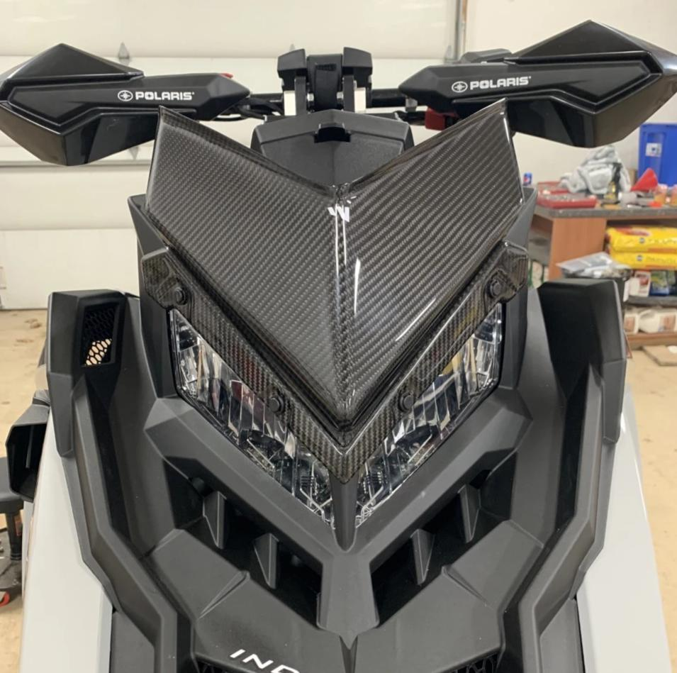 POLARIS AXYS CARBON FIBER ULTRA LOW WINDSHIELD