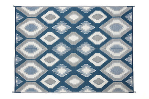 Outdoor Rug - Positano Blue/White/Grey