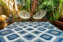 Load image into Gallery viewer, Outdoor Rug - Positano Blue/White/Grey