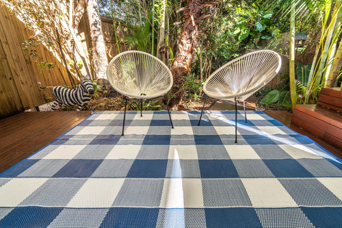 Outdoor Rug - Checkmate Blue