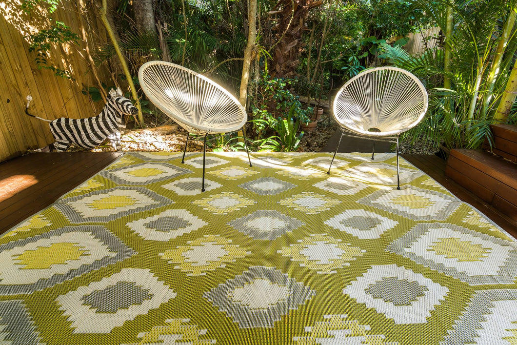 Outdoor Rug - Positano Yellow/White/Grey