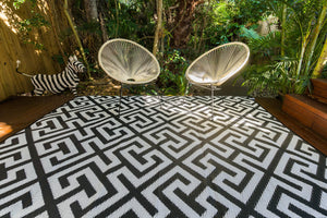 Outdoor Rug - Luxe Black and White