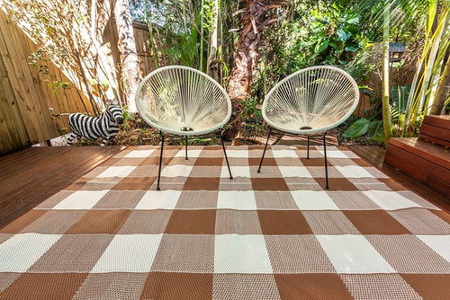 Outdoor Rug - Checkmate Beige/Brown
