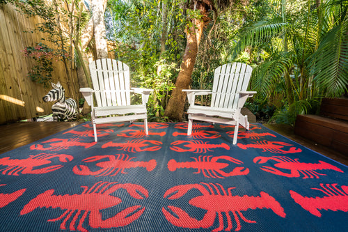 Outdoor Rug - Hamptons Style Lobster