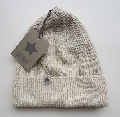 Huttelihut 4003W beanie old jeans recycled off white