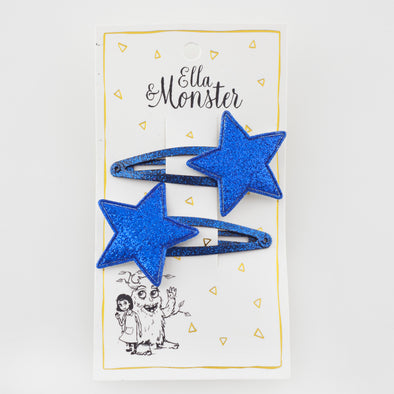 Ella og monster SP00123 blue glitter star