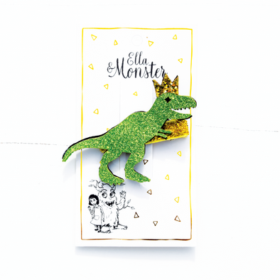 Ella og monster SP00180 Dino glitter hair clip