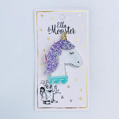 Ella og monster SP00179 Unicorn glitter hair clip