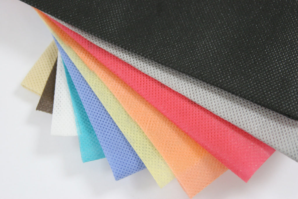 Nonwoven fabric in different colors