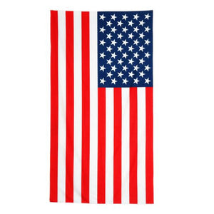USA Flag Rectangular Beach Towel