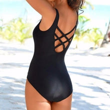 Black One-piece Swimsuit - back