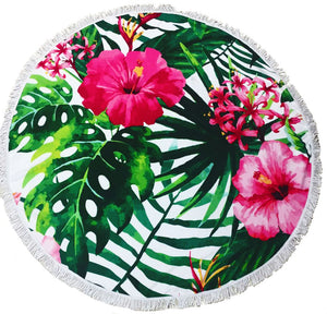 Hibiscus Tropical Themed Beach Towel