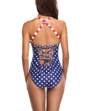 Women's American Flag Crossover Swimsuit