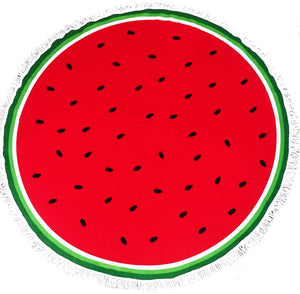 Round Watermelon Beach Towel