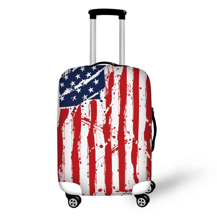 Weathered American Flag Suitcase Cover
