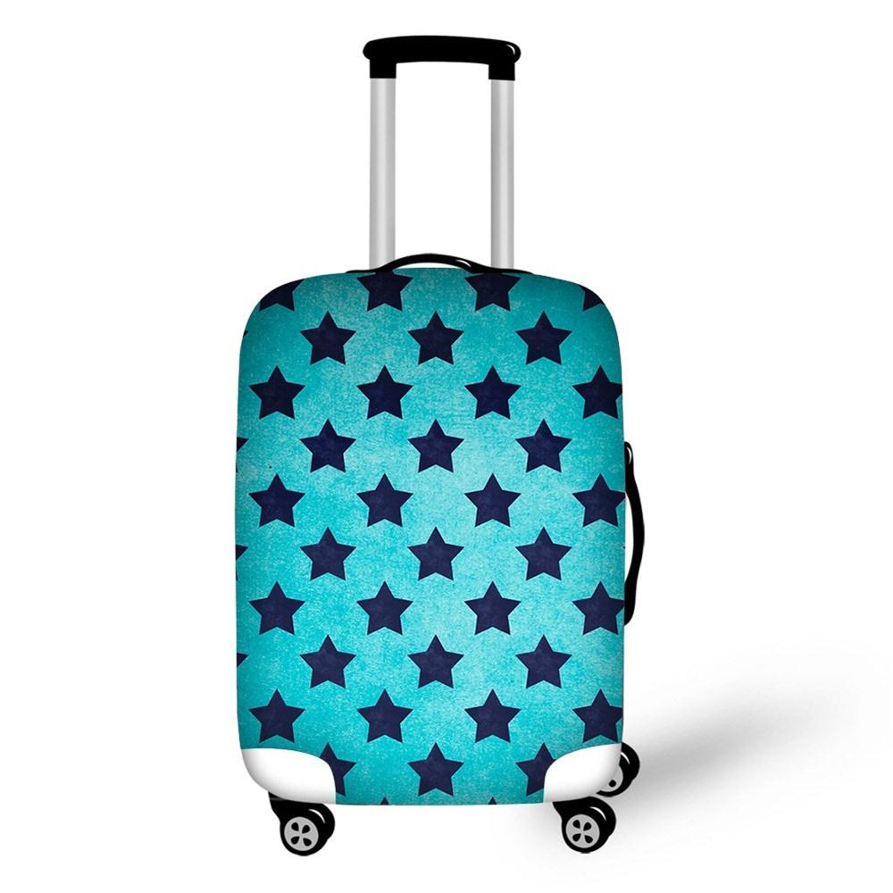 Blue Star Suitcase Cover