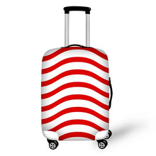 Red Stripe on White Suitcase Cover