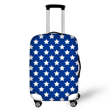 Blue and White Star Suitcase Cover
