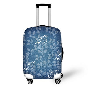 Blue Leaf Suitcase Cover