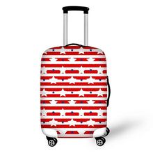 Red and White Suitcase Cover