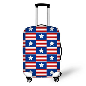 Star and Stripes Squares Suitcase Cover