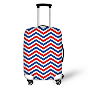 Red, Blue and White Suitcase Cover