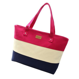 Women's Casual Beach Tote - Hot Pink