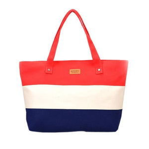 Women's Casual Beach Tote - Red