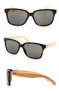 Unisex Woody Bamboo Sunglasses - Leopard