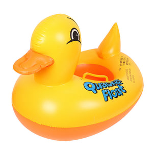 Yellow Duck Inflatable Infant Float