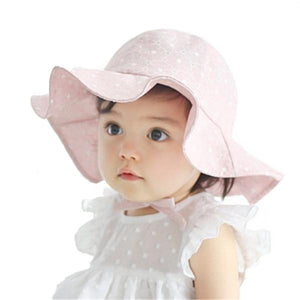 Pink Cotton Summer Hat for Toddler