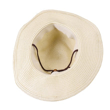 Men's Wide Brim Straw Beach Hat - Off white