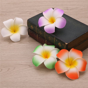 Hawaiian Plumeria Hair Clips