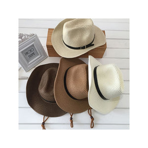 Men's Wide Brim Straw Beach Hat