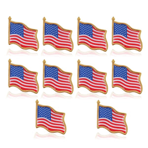 American Flag Lapel Pin (10 pieces)