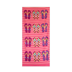 Pink Sandals Rectangular Beach Towel