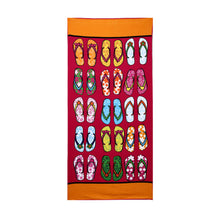 Multicolor sandals rectangular beach towel
