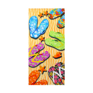 Yellow Sandals rectangular beach towel