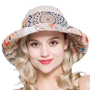 Women's Cotton Printed Stylish Summer Hat