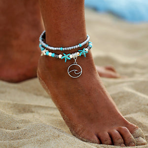 StarFish/Double-Bead Anklets