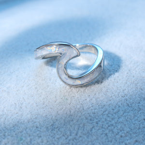 White Wave Ring