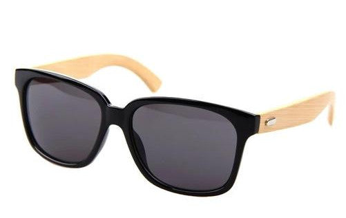 Unisex Woody Bamboo Sunglasses - Black