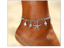 Metallic Starfish Shell Anklet